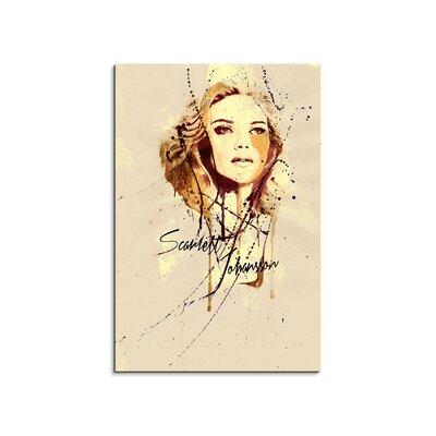 PaulSinusArt Enigma Scarlett Johansson Painting Print on Canvas
