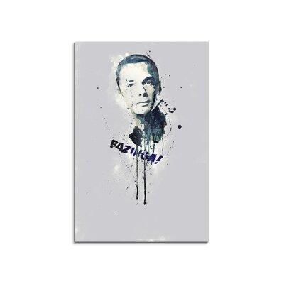 PaulSinusArt Enigma Sheldon Cooper Painting Print on Canvas