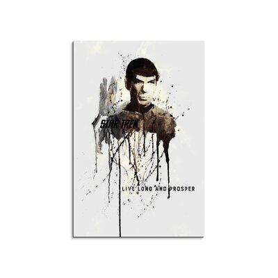 PaulSinusArt Enigma Spock Painting Print on Canvas