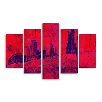 PaulSinusArt Enigma Abstrakt 973 Painting Print on Canvas Set