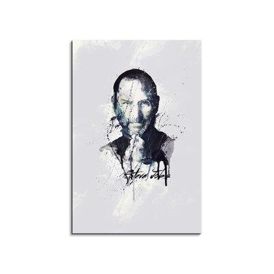 PaulSinusArt Enigma Steve Jobs Painting Print on Canvas