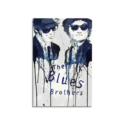 PaulSinusArt Enigma The Blues Brothers Painting Print on Canvas