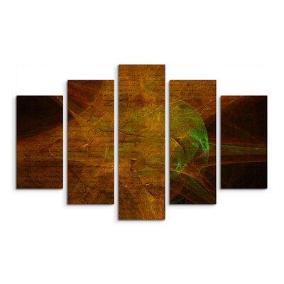 PaulSinusArt Enigma Skulptur Abstrakt 1016 Painting Print on Canvas Set