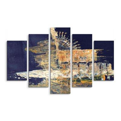 PaulSinusArt Enigma Abstrakt 978 Painting Print on Canvas Set