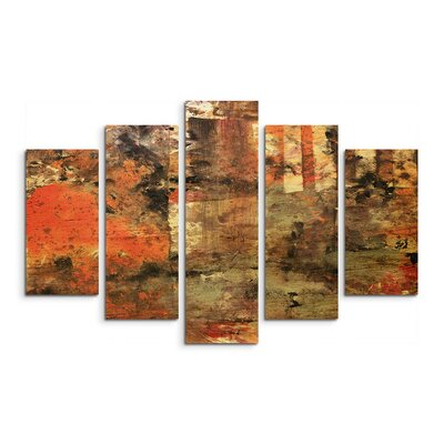 PaulSinusArt Enigma Abstrakt 982 Painting Print on Canvas Set