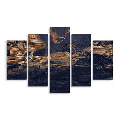 PaulSinusArt Enigma Abstrakt 983 Painting Print on Canvas Set