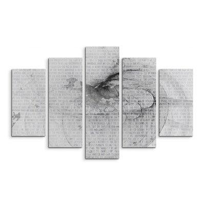 PaulSinusArt Enigma Skulptur Abstrakt 1225 Painting Print on Canvas Set