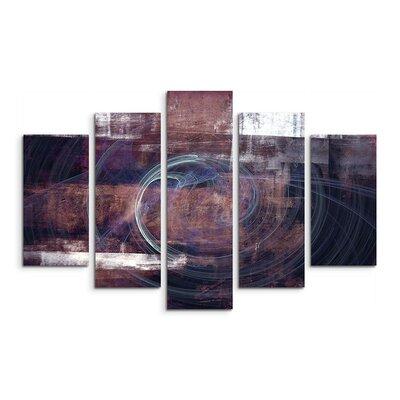 PaulSinusArt Enigma Skulptur Abstrakt 1102 Painting Print on Canvas Set