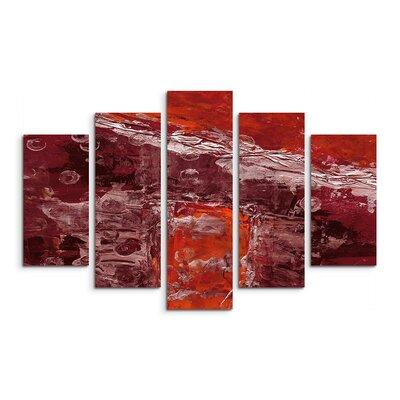 PaulSinusArt Enigma Abstrakt 765 Painting Print on Canvas Set