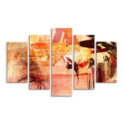 PaulSinusArt Enigma Abstrakt 766 Painting Print on Canvas Set