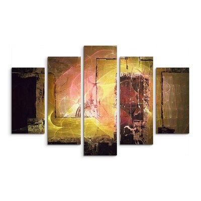 PaulSinusArt Enigma Abstrakt 1396 Painting Print on Canvas Set