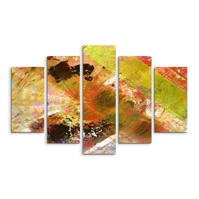 PaulSinusArt Enigma Abstrakt 948 Painting Print on Canvas Set