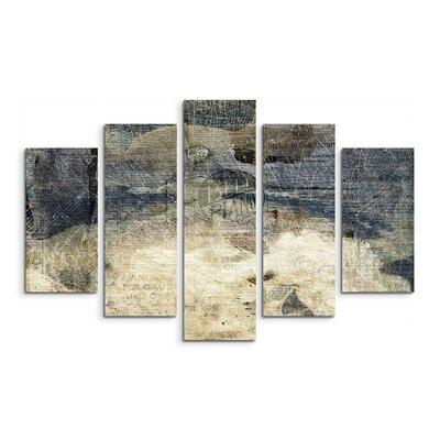 PaulSinusArt Enigma Abstrakt 952 Painting Print on Canvas Set