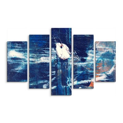 PaulSinusArt Enigma Abstrakt 953 Painting Print on Canvas Set