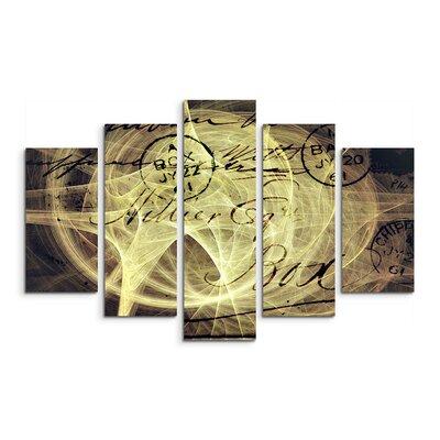 PaulSinusArt Enigma Skulptur Abstrakt 1275 Painting Print on Canvas Set