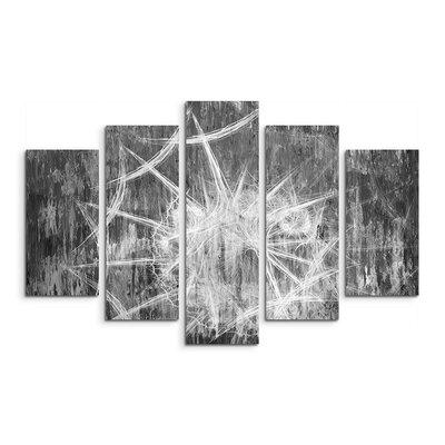 PaulSinusArt Enigma Skulptur Abstrakt 1288 Painting Print on Canvas Set