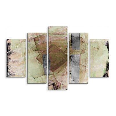PaulSinusArt Enigma Abstrakt 746 Painting Print on Canvas Set