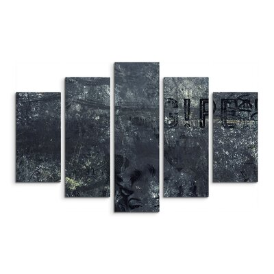 PaulSinusArt Enigma Abstrakt 823 Painting Print on Canvas Set