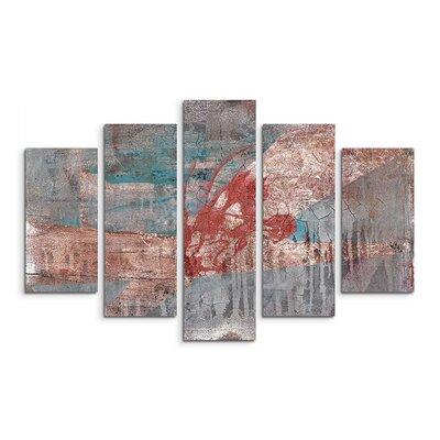 PaulSinusArt Enigma Abstrakt 825 Painting Print on Canvas Set
