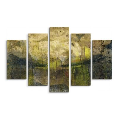 PaulSinusArt Enigma Abstrakt 826 Painting Print on Canvas Set