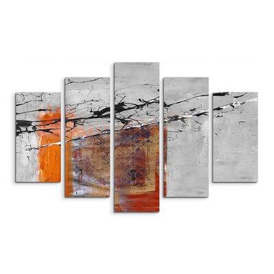 PaulSinusArt Enigma Abstrakt 505 Painting Print on Canvas Set