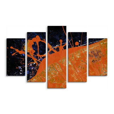 PaulSinusArt Enigma Abstrakt 675 Painting Print on Canvas Set