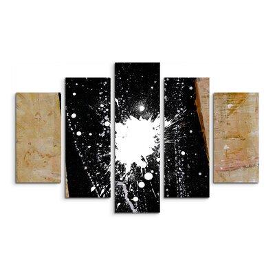 PaulSinusArt Enigma Abstrakt 679 Painting Print on Canvas Set