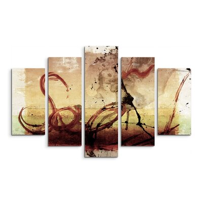 PaulSinusArt Enigma Abstrakt 680 Painting Print on Canvas Set