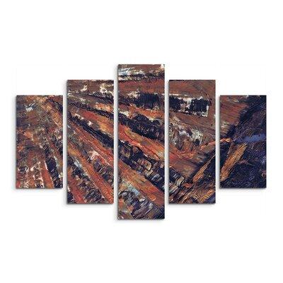 PaulSinusArt Enigma Abstrakt 893 Painting Print on Canvas Set