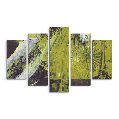 PaulSinusArt Enigma Abstrakt 894 Painting Print on Canvas Set