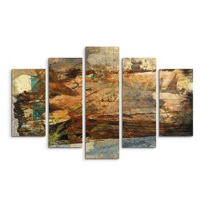 PaulSinusArt Enigma Abstrakt 898 Painting Print on Canvas Set