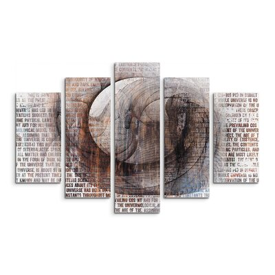 PaulSinusArt Enigma Skulptur Abstrakt 1317 Painting Print on Canvas Set