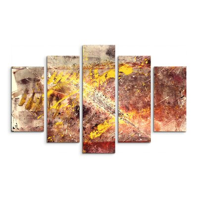 PaulSinusArt Enigma Abstrakt 905 Painting Print on Canvas Set