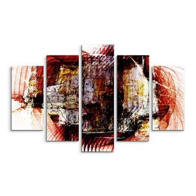 PaulSinusArt Enigma Skulptur Abstrakt 1328 Painting Print on Canvas Set