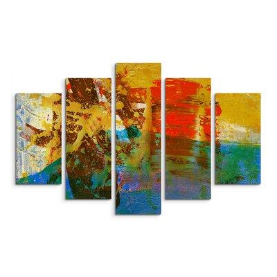 PaulSinusArt Enigma Abstrakt 541 Painting Print on Canvas Set