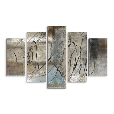 PaulSinusArt Enigma Abstrakt 722 Painting Print on Canvas Set