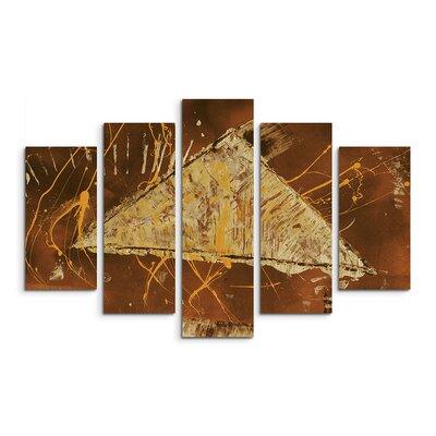 PaulSinusArt Enigma Abstrakt 724 Painting Print on Canvas Set