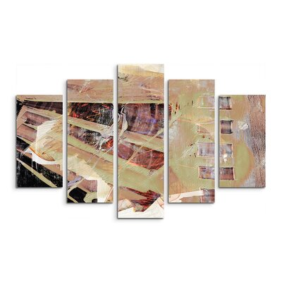 PaulSinusArt Enigma Abstrakt 744 Painting Print on Canvas Set