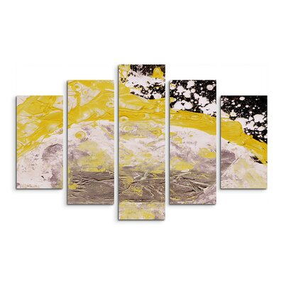 PaulSinusArt Enigma Abstrakt 665 Painting Print on Canvas Set