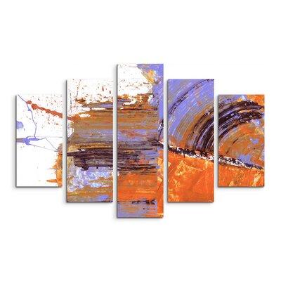 PaulSinusArt Enigma Abstrakt 669 Painting Print on Canvas Set