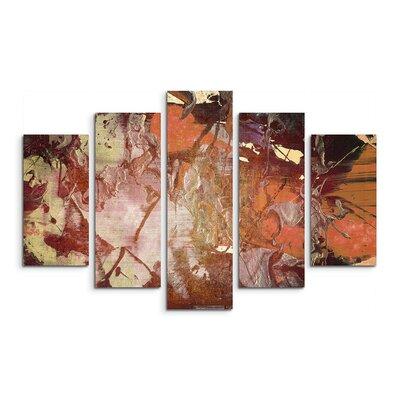 PaulSinusArt Enigma Abstrakt 876 Painting Print on Canvas Set