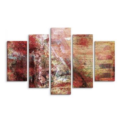 PaulSinusArt Enigma Abstrakt 885 Painting Print on Canvas Set