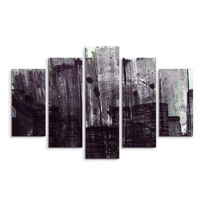 PaulSinusArt Enigma Abstrakt 886 Painting Print on Canvas Set