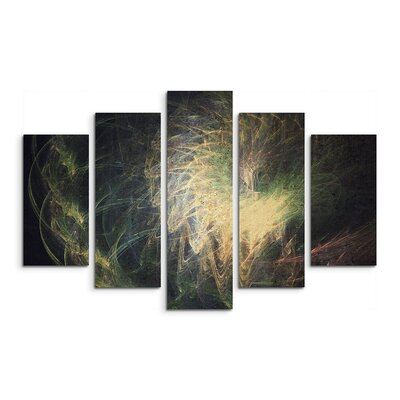 PaulSinusArt Enigma Skulptur Abstrakt 1138 Painting Print on Canvas Set
