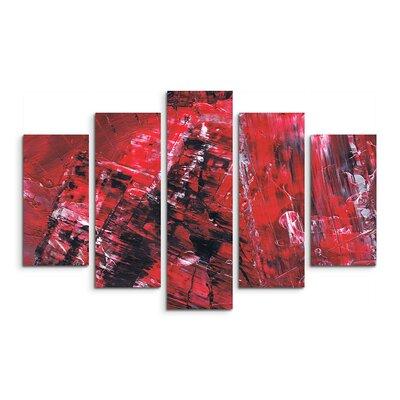 PaulSinusArt Enigma Abstrakt 507 Painting Print on Canvas Set
