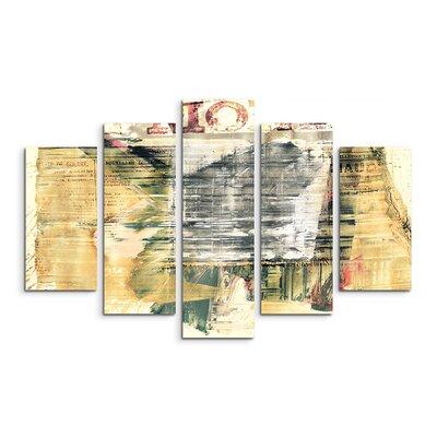 PaulSinusArt Enigma Abstrakt 514 Painting Print on Canvas Set