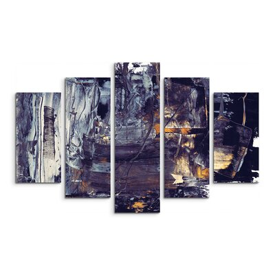 PaulSinusArt Enigma Abstrakt 915 Painting Print on Canvas Set