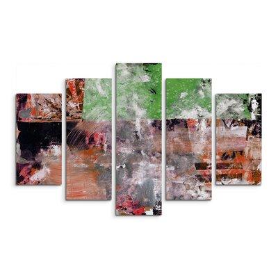 PaulSinusArt Enigma Abstrakt 918 Painting Print on Canvas Set