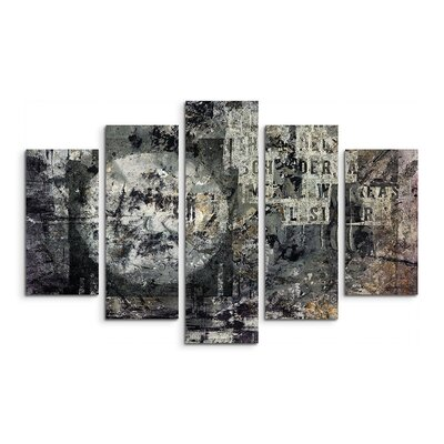 PaulSinusArt Enigma Abstrakt 922 Painting Print on Canvas Set