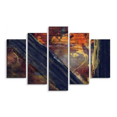 PaulSinusArt Enigma Abstrakt 924 Painting Print on Canvas Set